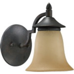 Coventry Family 1-Light Toasted Sienna Wall Sconce 545-1-44
