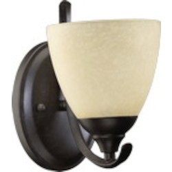 Powell Family 1-Light Toasted Sienna Wall Sconce 5508-1-44