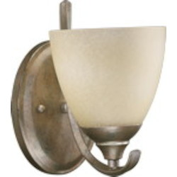 Powell Family 1-Light Mystic Silver Wall Sconce 5508-1-58