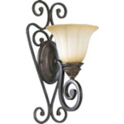 Summerset Family 1-Light Toasted Sienna Wall Sconce 5526-1-44