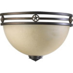Lone Star Family 1-Light Toasted Sienna Wall Sconce 5628-44