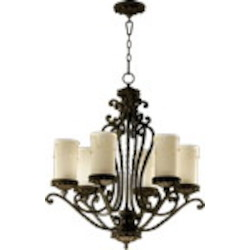 "Alameda Family 6-Light 31"" Oiled Bronze Chandelier 6086-6-86"