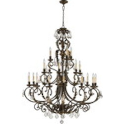 "Rio Salado Family 51"" Toasted Sienna With Mystic Silver Chandelier 6157-21-44"