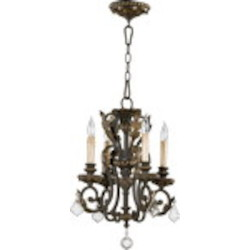 "Rio Salado Family 15"" Toasted Sienna With Mystic Silver Chandelier 6157-4-44"
