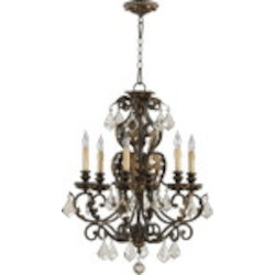 "Rio Salado Family 23"" Toasted Sienna With Mystic Silver Chandelier 6157-6-44"