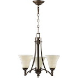 "Aspen Family 20"" Oiled Bronze Chandelier 6177-3-86"