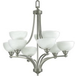"Hemisphere Family 32"" Satin Nickel Chandelier 620-9-65"