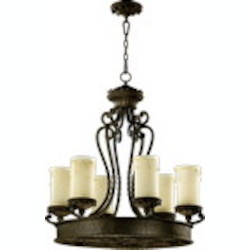 "Alameda Family 6-Light 31"" Oiled Bronze Chandelier 6286-6-86"