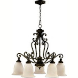 "Alameda Family 5-Light 31"" Oiled Bronze Chandelier 6386-5-86"