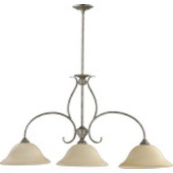 "Spencer Family 45"" Mystic Silver Island Light 6510-3-58"