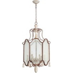 "La Maison Family 21"" Manchester Grey w/ Rust Accents Entryway Light 6852-6-56"