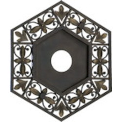 "Marcela Family 16"" Oiled Bronze Ceiling Medallion 7-6131-86"