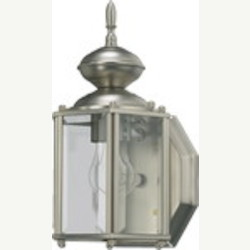 "Lantern Family 1-Light 10"" Satin Nickel Outdoor Lantern 709-65"