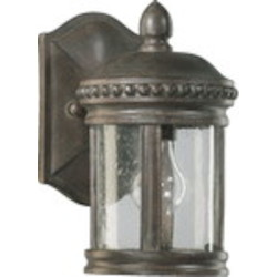 Dauphine Family 1-Light Etruscan Sienna Outdoor Wall Lantern 7280-1-43