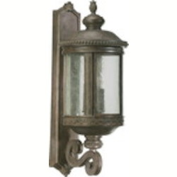 "Dauphine Family 4-Light 31"" Etruscan Sienna Outdoor Wall Lantern 7280-4-43"