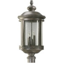 Dauphine Family 4-Light Etruscan Sienna Outdoor Post Lantern 7282-4-43