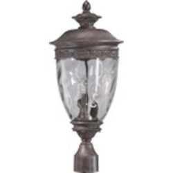 Georgia Family 3-Light Etruscan Sienna Outdoor Post Lantern 7402-3-43