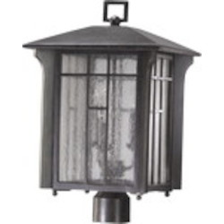 Arts & Crafts Family 3-Light Baltic Granite Outdoor Post Lantern 7502-3-45