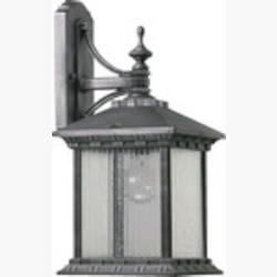 Huxley Family 1-Light Rustic Silver Outdoor Wall Lantern 7561-72