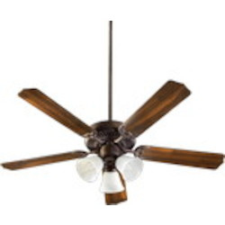 "Capri VI Family 52"" Toasted Sienna Ceiling Fan with Light Kit 77525-1644"