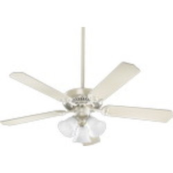 "Capri VI Family 52"" Antique White Ceiling Fan with Light Kit 77525-1667"