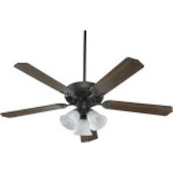 "Capri VI Family 52"" Old World Ceiling Fan with Light Kit 77525-1695"