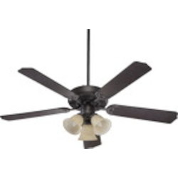 "Capri VI Family 52"" Toasted Sienna Ceiling Fan with Light Kit 77525-1744"