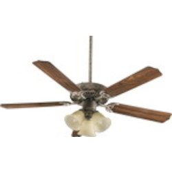 "Capri VI Family 52"" Mystic Silver Ceiling Fan with Light Kit 77525-1758"