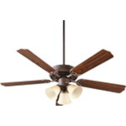 "Capri VI Family 52"" Oiled Bronze Ceiling Fan with Light Kit 77525-1786"