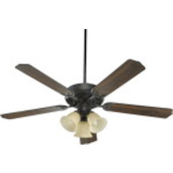 "Capri VI Family 52"" Old World Ceiling Fan with Light Kit 77525-1795"