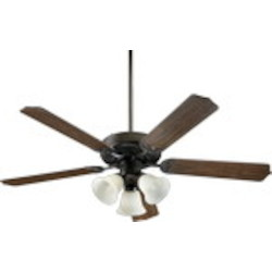"Capri VI Family 52"" Oiled Bronze Ceiling Fan with Light Kit 77525-1886"