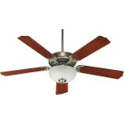 "Capri III Family 52"" Satin Nickel Ceiling Fan with Light Kit 77525-9265"