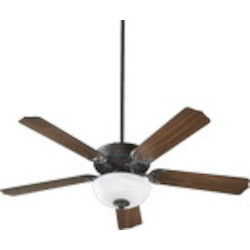 "Capri III Family 52"" Old World Ceiling Fan with Light Kit 77525-9295"