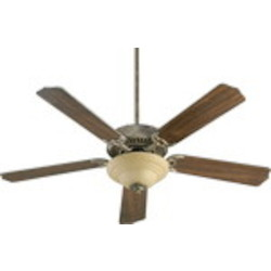 "Capri III Family 52"" Mystic Silver Ceiling Fan with Light Kit 77525-9458"