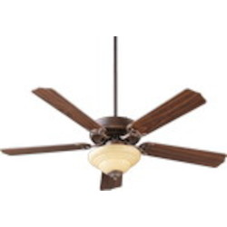 "Capri III Family 52"" Oiled Bronze Ceiling Fan with Light Kit 77525-9486"