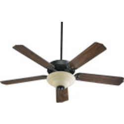 "Capri III Family 52"" Old World Ceiling Fan with Light Kit 77525-9495"