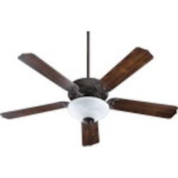 "Capri III Family 52"" Toasted Sienna Ceiling Fan with Light Kit 77525-9544"