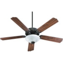 "Capri III Family 52"" Old World Ceiling Fan with Light Kit 77525-9595"
