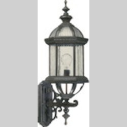 "Stelton Family 1-Light 27"" Rustic Silver Outdoor Wall Lantern 7812-45"
