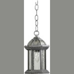 "Stelton Family 1-Light 11"" Rustic Silver Outdoor Hanging Lantern 7814-72"
