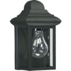 Quorum International 1-Light Gloss Black Outdoor Lantern 783-15