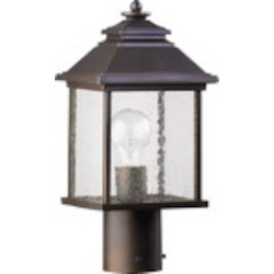 Pearson Family 1-Light Oiled Bronze Outdoor Post Lantern 7942-7-86