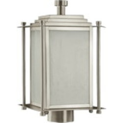 Shoreham Family 3-Light Satin Nickel Outdoor Post Lantern 7952-3-65