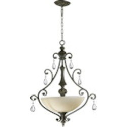 "Fulton Family 3-Light 31"" Cordovan Bronze Pendant 8032-3-54"