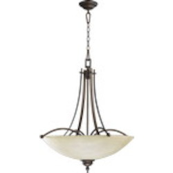 "Aspen Family 27"" Oiled Bronze Chandelier 8177-5-86"