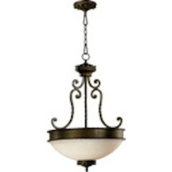 "Alameda Family 3-Light 30"" Oiled Bronze Pendant 8286-3-86"