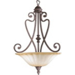 "Summerset Family 4-Light 30"" Toasted Sienna Pendant 8326-4-44"