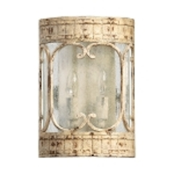 "Florence Collection 2-Light 11"" Persian White Wall Sconce with Seeded Glass 5637-2-70"