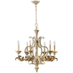 "Florence Collection 6-Light 30"" Persian White Chandelier 6037-6-70"