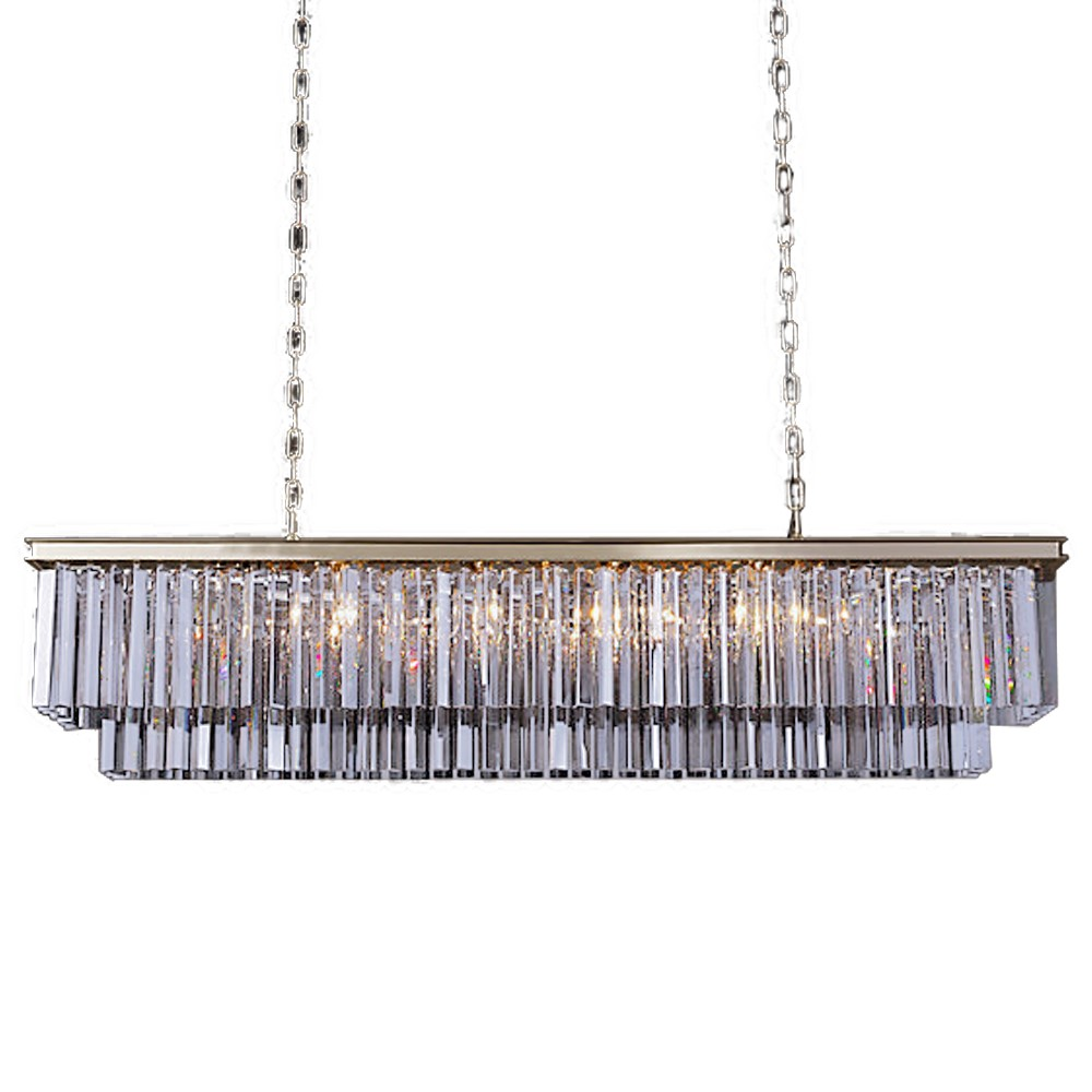 Odeon 12 Light Silver Shade Glass Frind Chandelier Light ...